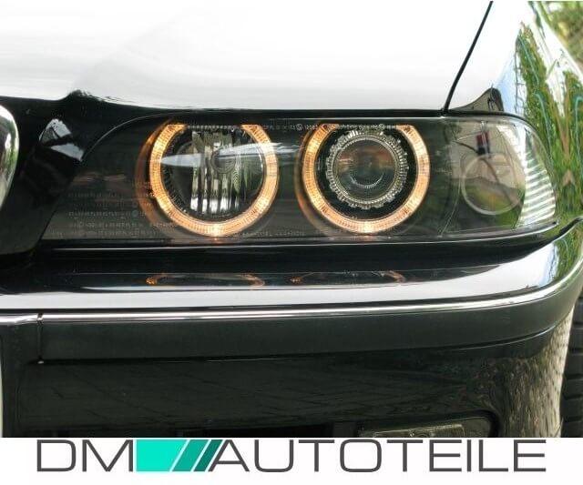 bmw e39 facelift phare angel eyes cristal noir 95 03 h7 h7. Black Bedroom Furniture Sets. Home Design Ideas