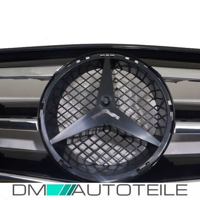 mercedes s204 w204 k hlergrill grill cl look chrom schwarz. Black Bedroom Furniture Sets. Home Design Ideas