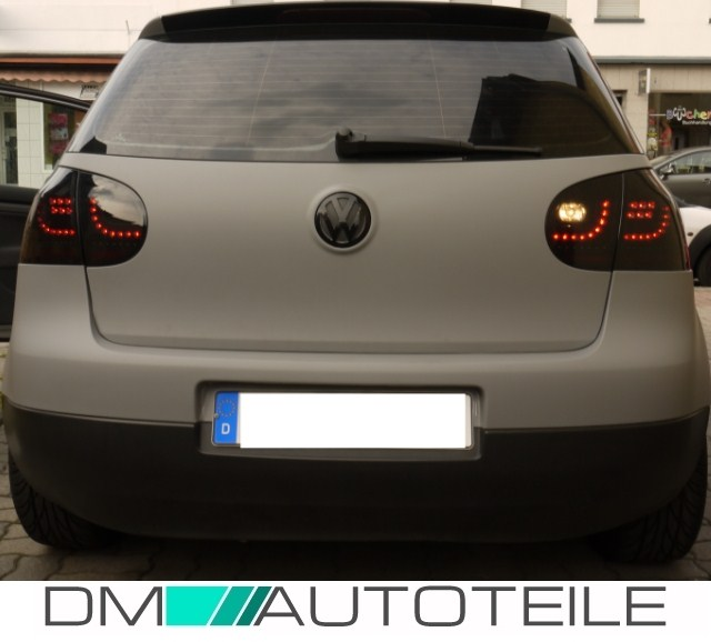 vw golf 5 feux arri re led noir clignotant led 03 08 gti style. Black Bedroom Furniture Sets. Home Design Ideas