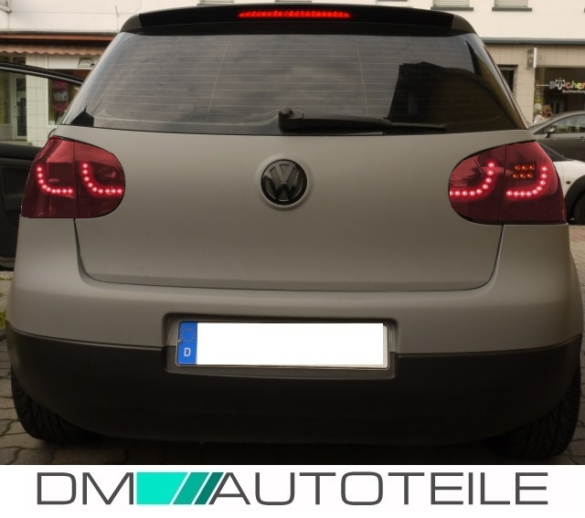 vw golf 5 r ckleuchten led kirschrot black led blinker 03. Black Bedroom Furniture Sets. Home Design Ideas
