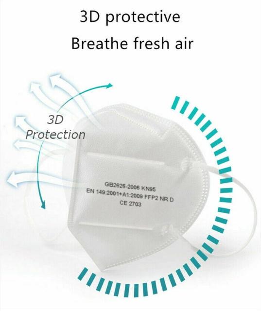 10x Atemschutzmaske FFP2 KN95 Schutz Mundschutz Staubmaske ...