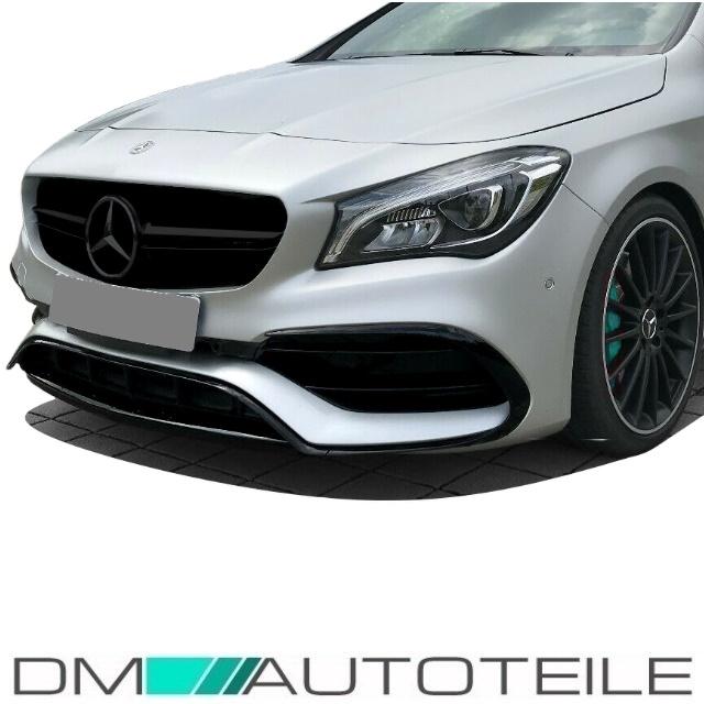 Stern passt für Mercedes W117 CLA nicht AMG 45 Bj 13-16 Set Kühlergrill Silber