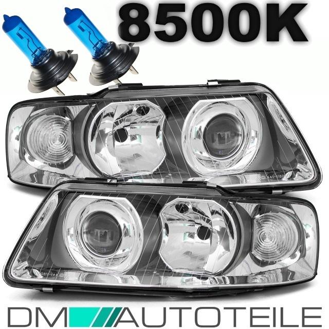 DM Autoteile A3 8L Facelift Scheinwerfer Set 00-03 Chrom Oneblock+4x Philips Xenon H7//H1