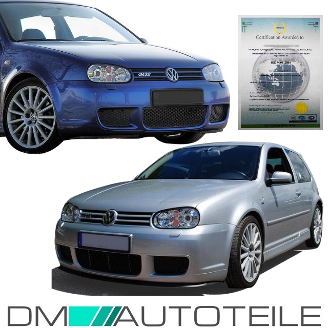 Lowered Mk4 R32: VW Golf 4 IV MK4 R32 Sport Front Bumper RS+Race Grill ABS