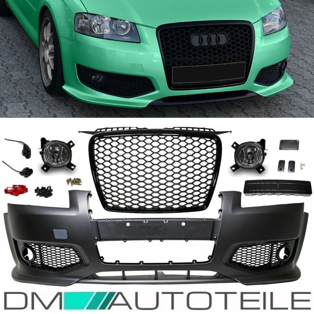 audi a3 8p 8pa front bumper abs grille black single frame. Black Bedroom Furniture Sets. Home Design Ideas