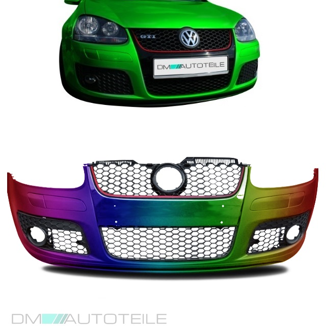 vw golf 5 v gti front sto stange vorne aus abs. Black Bedroom Furniture Sets. Home Design Ideas