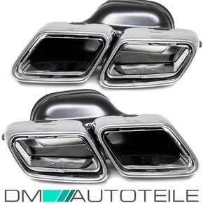 Mercedes W212 W222 tail pipe chrome 4-pipe stainless...