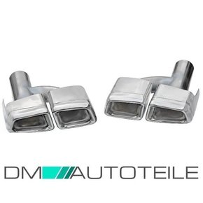 Mercedes W221 W212 tail Pipes Chrome 05-11 + accessories...