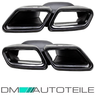 Mercedes W212 W222 Tail Pipes Chrome Black  4-Exhaust Stainless Steel + Accessoires fits for E63 S63 AMG