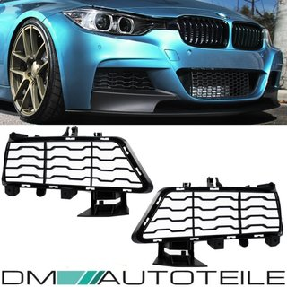 Set Front Grille Cover Black fits on BMW 3-Series F30 F31 M-Sport US 335i Update