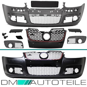 Set VW Golf 5 V Front Bumper + accessories for GTI ABS + vehicle type approval