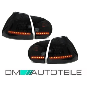 VW Golf 5 V GTI look headlights black + LED rear lights...