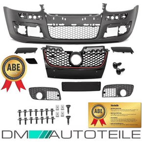 VW Golf 5 V Front Bumper & honeycomb mesh suitable for...