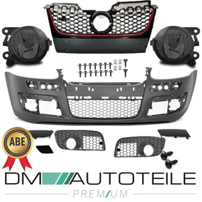 VW Golf 5 V Front Bumper complete + fog lights Smoke for...