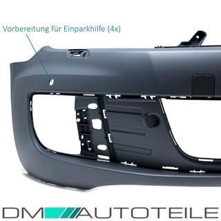VW Golf VI 6 GTI Front Bumper + accessories + Grille 08-13 for park assist