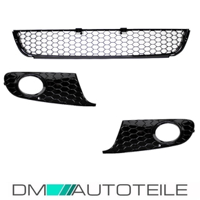 VW Golf VI 6 Gitter Set Wabendesign Glanz Schwarz Bj...