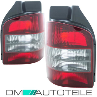 Set VW T5 rear lights red black 03-09 left & right for vehicles with tailgate