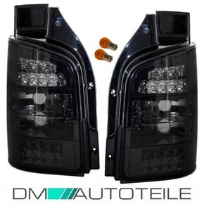 VW Transporter T5 LED rear lights Set clear glass black...
