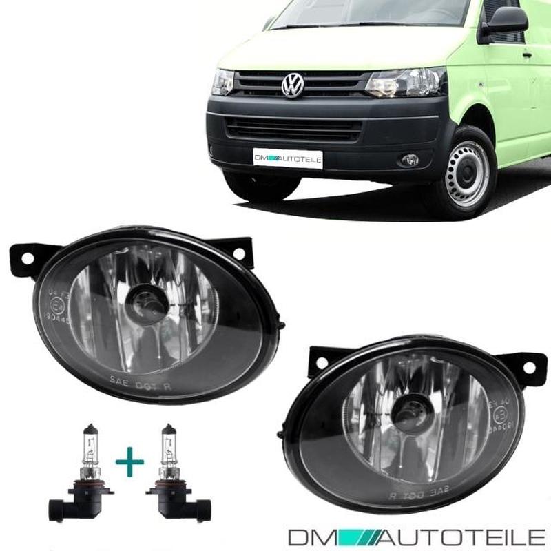 VW T5 Multivan Transporter Facelift Fog Lights Fogs Set Chrome Black + HB4  Bulbs