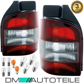 Set VW T5 Rear Lights Red Black Year 03-09 one Piece...