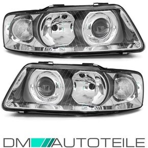 Audi A3 8L 8L1 Set headlights clear glass Facelift design...