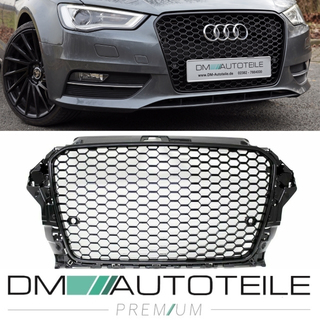 Wabendesign Kühlergrill Wabengrill Glanz passend für Audi A3 8V 12-16 auch RS3
