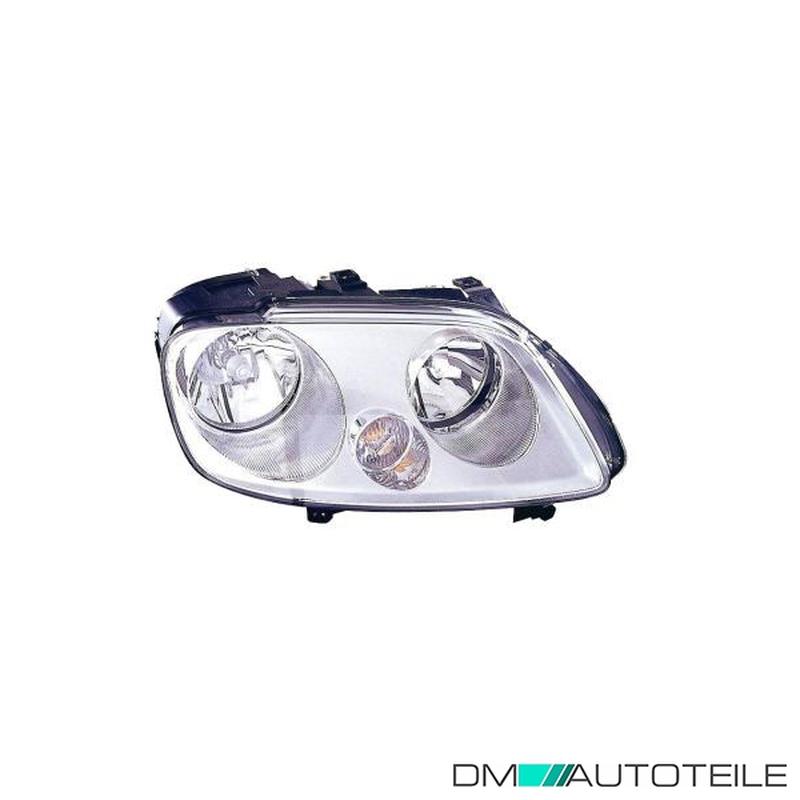 Caddy H7 H1 Scheinwerfer schwarz mit Stellmotor rechts für VW Touran 03-06