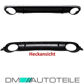 Audi A4 B8 8K Diffuser Bumper + for tail pipes for RS4...