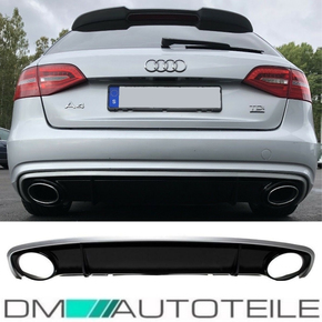 Audi A4 B8 8K Facelift Diffuser Bumper + for tail pipes...