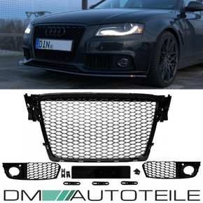 Set Front Grille honeycomb black mirror finsih + fog...