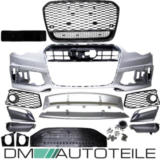 S6 Diffuser Rear Bumper Valance Spoiler Audi A6 C7 4G Facelift Saloon Limousine