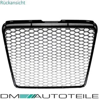 Original vorne Stoßstange Nebellicht schwarz Grill li Audi A6 C6 08-11 Facelift