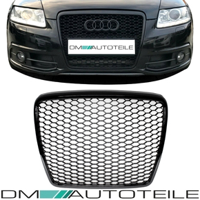 Badgeless Front Grille Grill Honeycomb Black Gloss for...