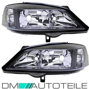 Set Opel (Vauxhall) Astra G headlights left & right clear...