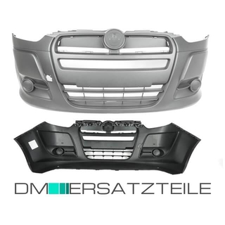 Fiat Doblo II Cargo Front Bumper 10-15 black without fog lights