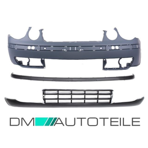 Set VW Polo 9N Front Bumper + trim + Spoiler 01-05 for...