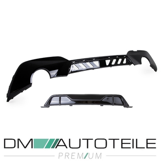Sport-Performance Black Gloss Front Spoiler+ Rear Diffusor + Side Skirts Blades fits on BMW 3-Series G20 G21 M-Sport
