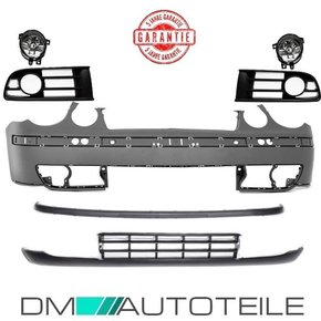 Set VW Polo 9N Accident Kit Bumper +Grille +Fogs Year 01-05