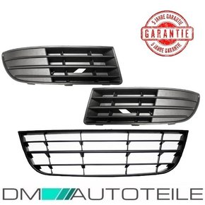 Set VW Polo 9N3 Front Grille lower Part central LH+RH Bj....