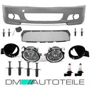 Set BMW E46 Coupe Convertible Front Bumper 99-07 primed +...