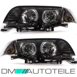 Set CCFL Angel Eyes Scheinwerfer +Blinker passend für BMW E46 Limo Touring 98-01