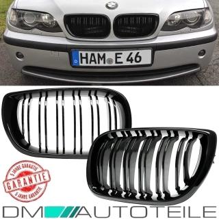 Für BMW E46 LCI LED Seitenblinker Chrom Klarglas M Blinker Limousine Touring 01