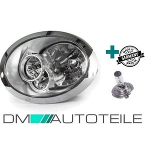 Set Headlamps Left Chrome H7/H7 +Bulb fits on BMW Mini...