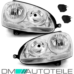 Set VW Golf 5 03-08 Jetta headlights Set H7/H7 chrome OEM