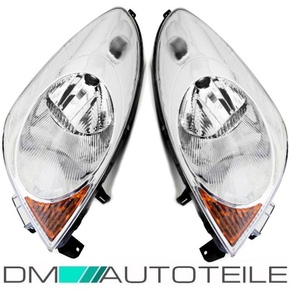 Set Nissan Note E11 Headlights left right H4 06-09
