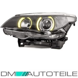BMW E60 E61 Bi-Xenon headlight left D1S/H7  05-07 without bending lights