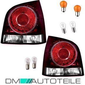 Set VW Polo 9N3 rear lights left right 05-09 red incl. Bulbs