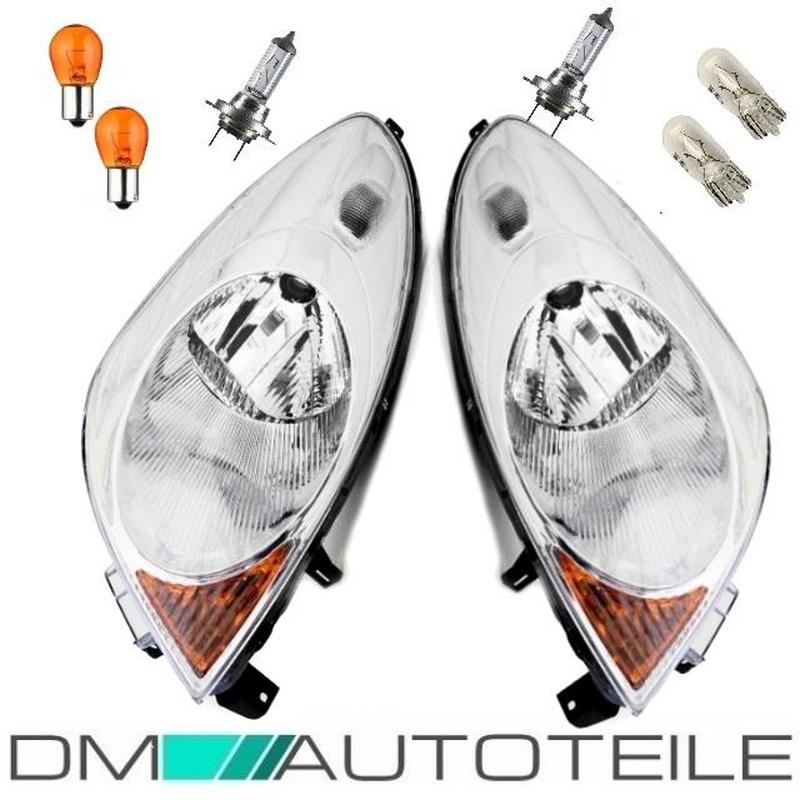 DM Autoteile Note E11 Scheinwerfer Rechts Links H4 05-09 Klarglas Birnen KOMPLETT SET