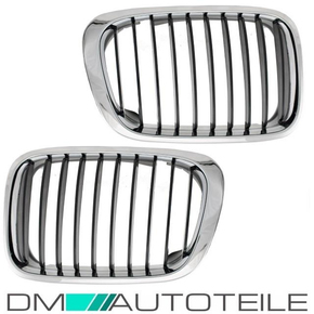 Set Front Grille chrome suitable for BMW E46 Saloon...