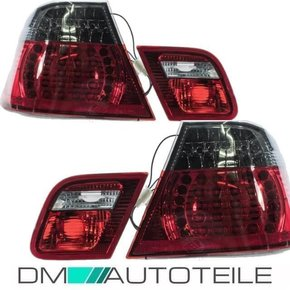 LED rear lights Set red Smoke fits on BMW E46 Coupe 99-03...